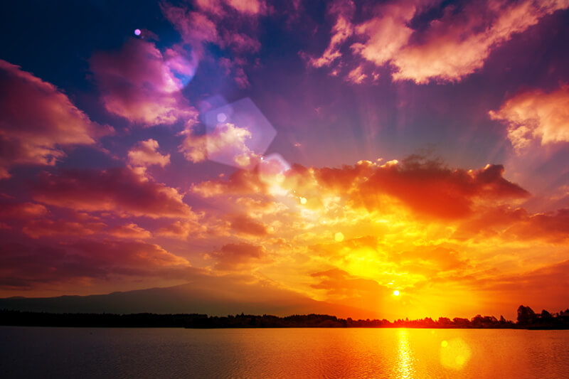 ブログ記事用無料イメージ画像:日の出の風景 朝焼け4素材|素材スタジオ