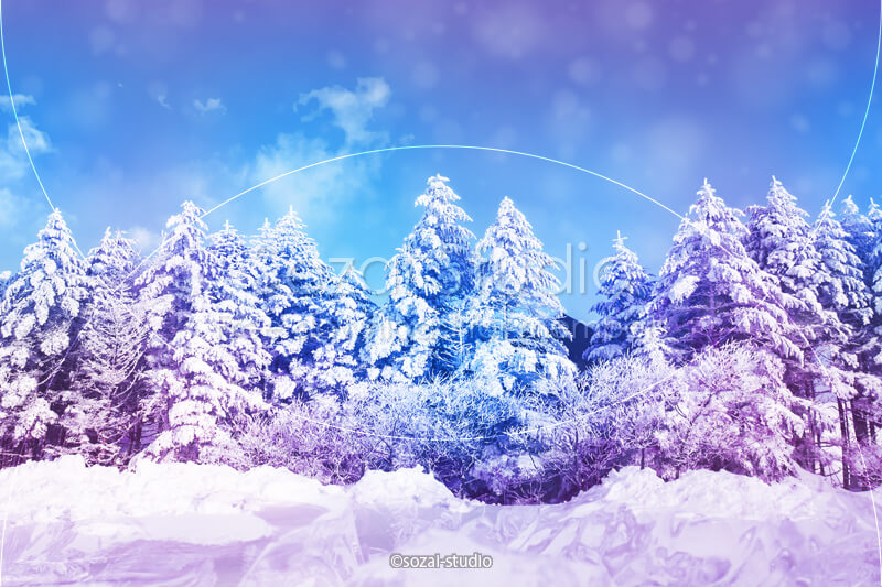ブログ記事用無料イメージ画像:冬のシリーズ冬の風景(1)