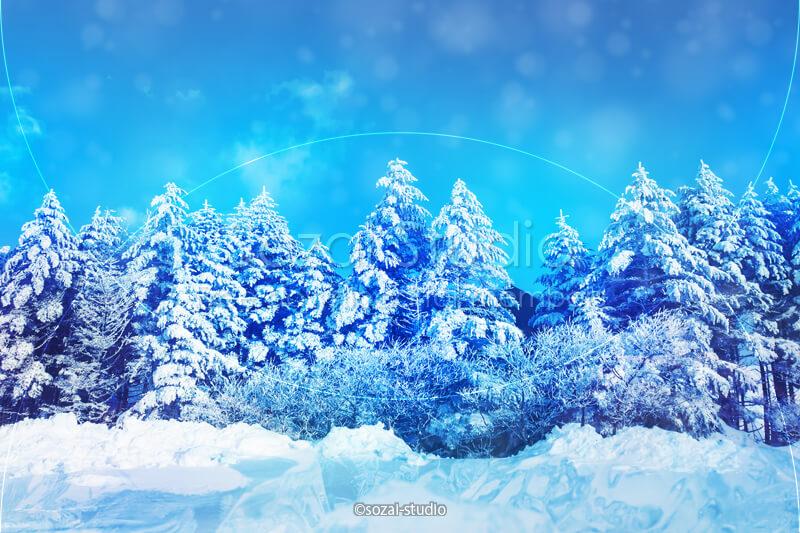 ブログ記事用無料イメージ画像:冬のシリーズ冬の風景(1)|素材スタジオ