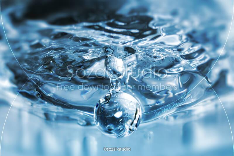 ブログ記事用無料イメージ画像:水の表情シリーズ 水滴4素材