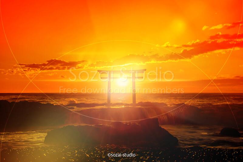 初日の出や朝日の画像で初日の出スポットや初日の出情報紹介!ブログ用フリー写真素材