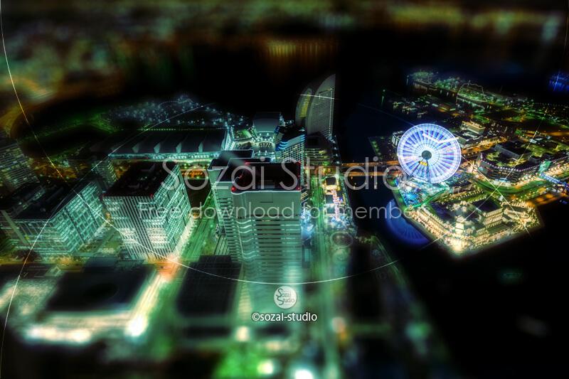 ブログ記事無料アイキャッチ画像:展望台からの横浜夜景4素材|素材スタジオ