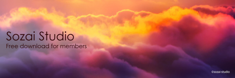 ブログヘッダー用無料画像:雲海シリーズ色彩パワー編|素材スタジオ