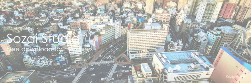 ブログヘッダー用無料画像:東京都文京区の街並み風景 4素材
