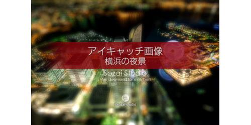 展望台からの横浜夜景:ブログ記事用画像