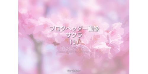 春のシリーズ桜の花(1)