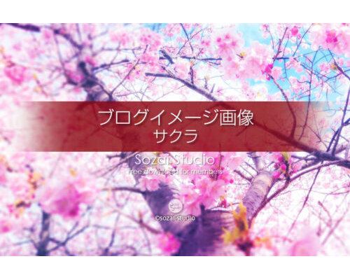 ブログ記事用無料イメージ画像:春のシリーズ桜の花(2)4素材
