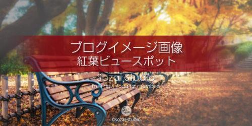 紅葉のビュースポット:ブログ記事用画像