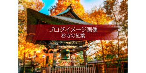 お寺の紅葉 鐘つき堂:ブログ記事用画像